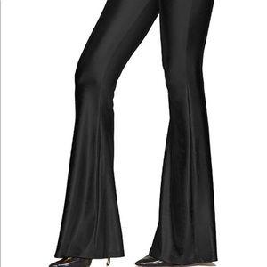 Pants - Silky bell bottom shiny pants flared leggings sexy